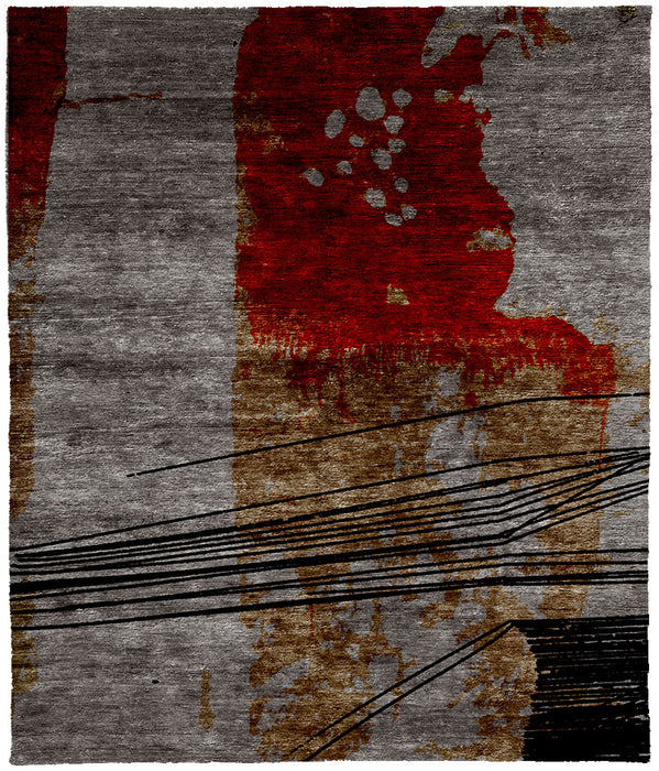 Song For Cello B Hand Knotted Tibetan Rug Main Image