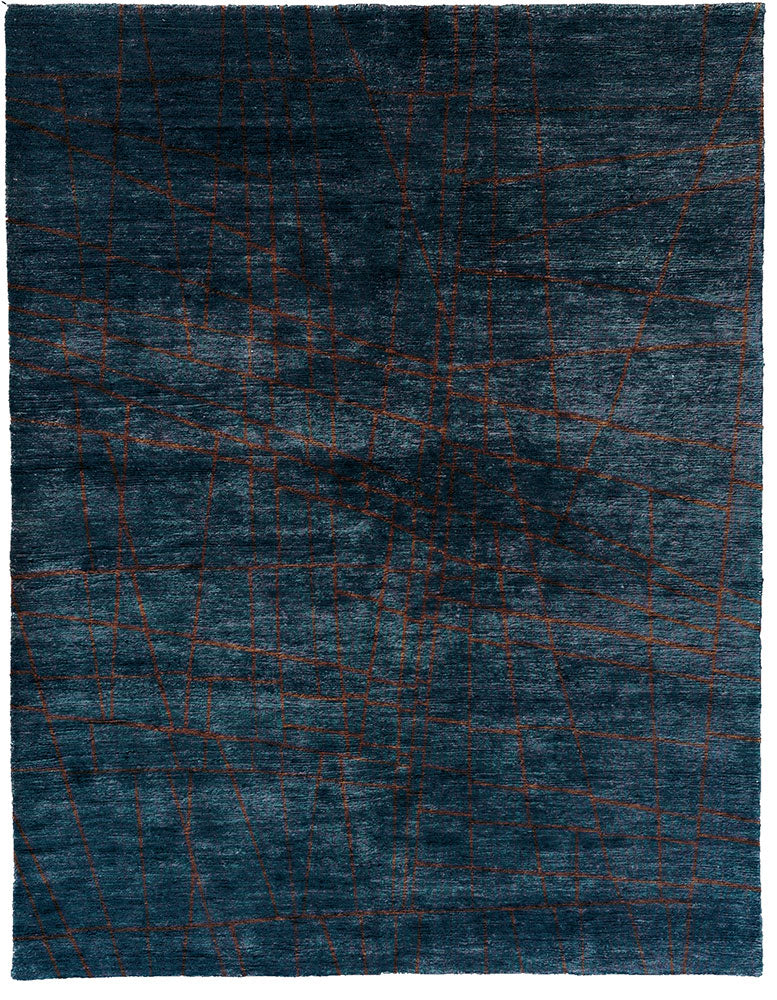 Striations Hand Knotted Tibetan Rug Main Image