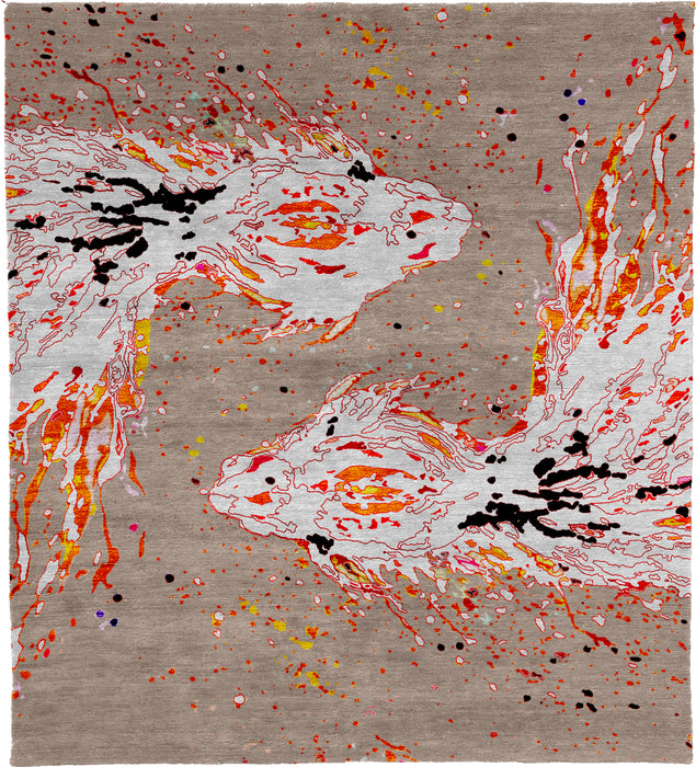Fish Hand Knotted Rug Main Image