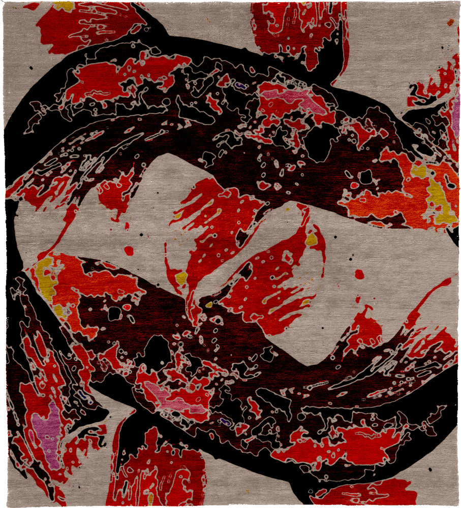 Fishes A Hand Knotted Tibetan Rug Main Image