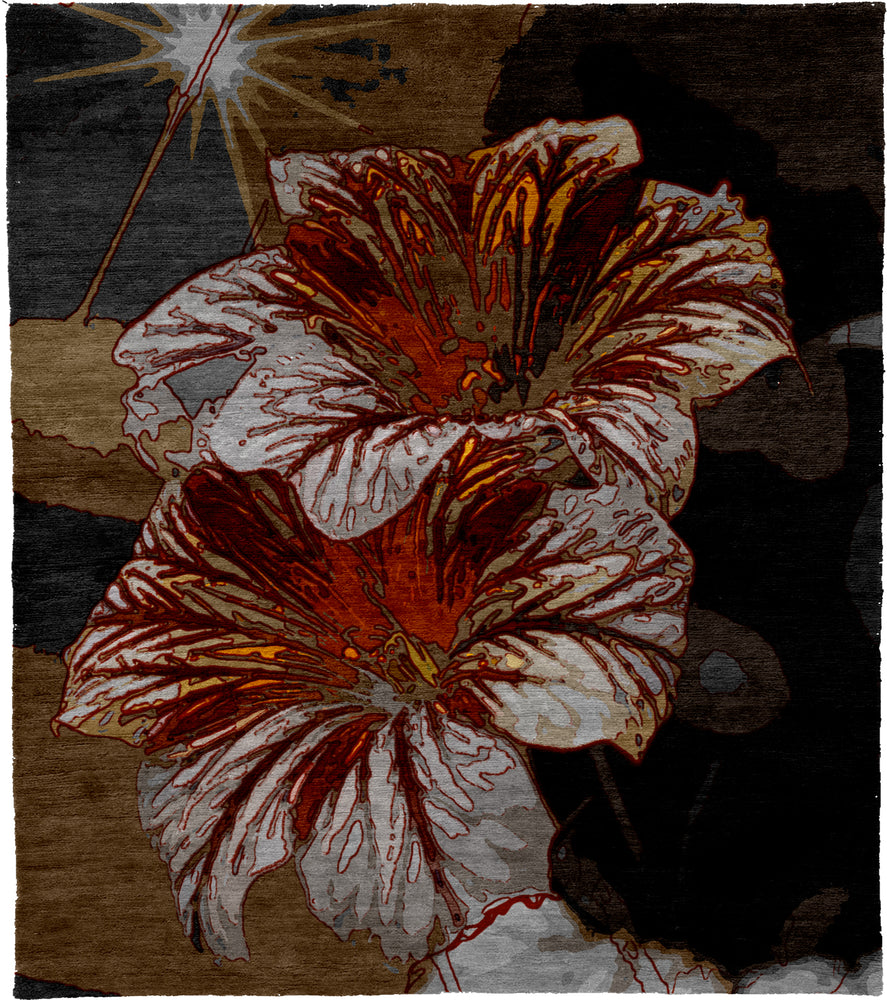Flower Hand Knotted Tibetan Rug Main Image