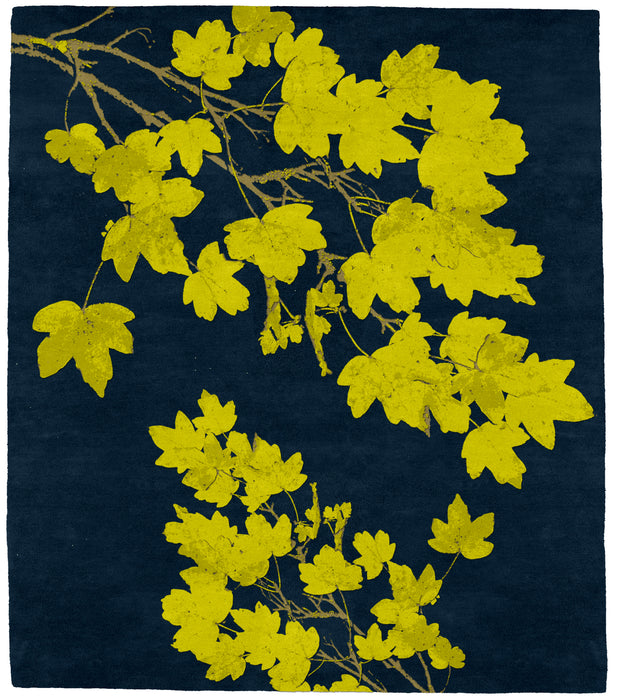 Autumn Lemon - Blue Rug Main Image