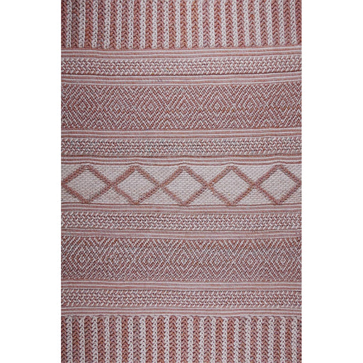 Modern Loom Solitaire Orange Felt Shag Rug Main Image
