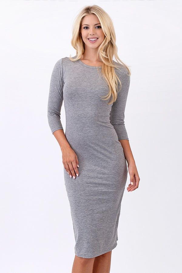 Alyssa Midi 3/4 Sleeves Dress Siin Bees