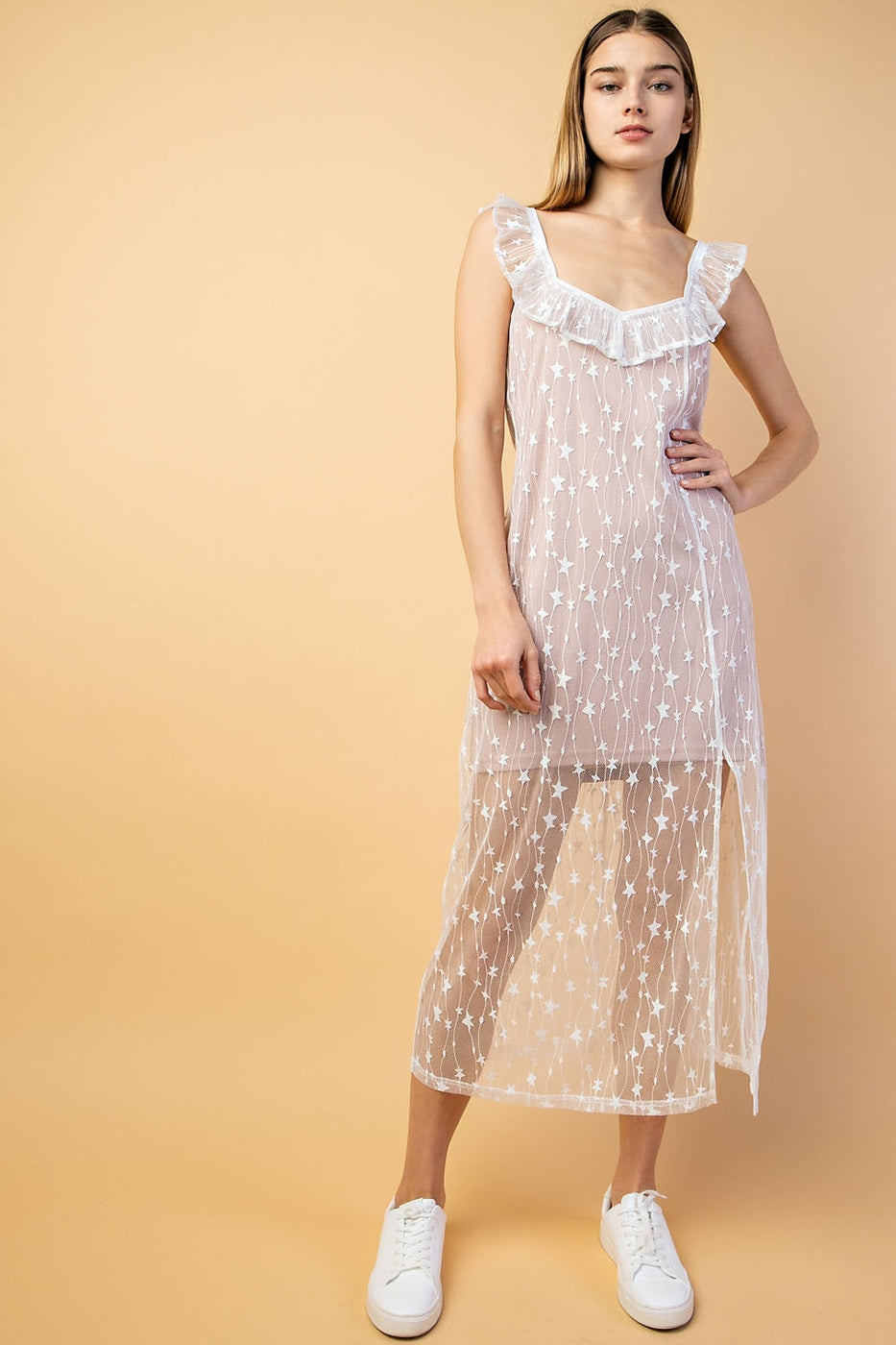 Sheer Midi Dress Siin Bees