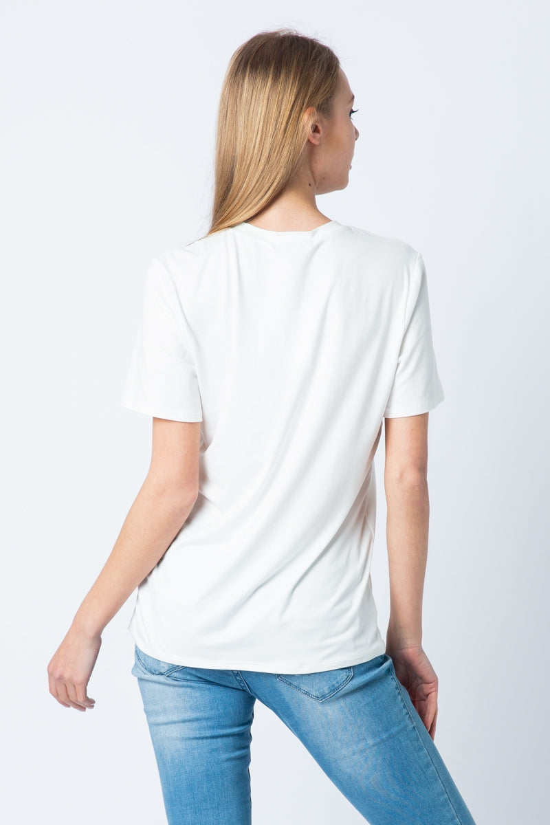 White Short Sleeve Top Cali Graphic Tee Siin Bees