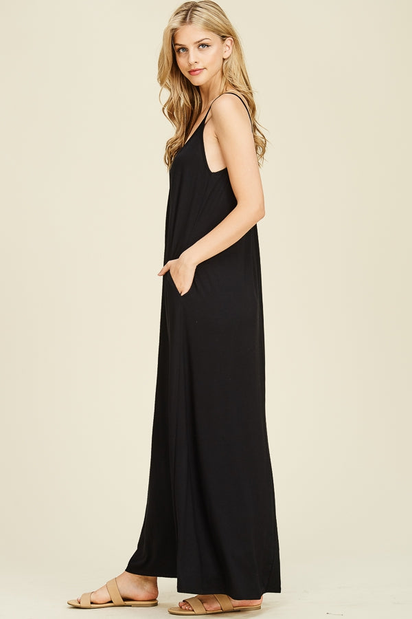 Luna Adjustable Spaghetti Strap Drape Detail Maxi Dress Siin Bees