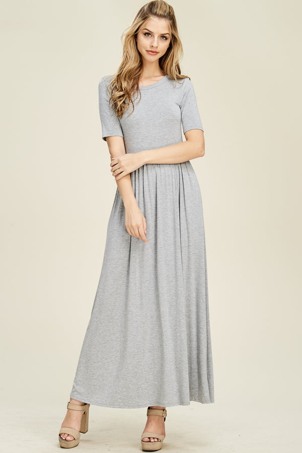 Piper short Sleeve Back Cut-Out Maxi Dress Siin Bees