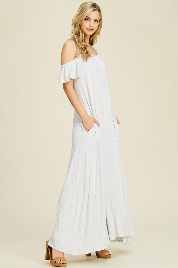 Julia Cold Shoulder Maxi Dress Siin Bees