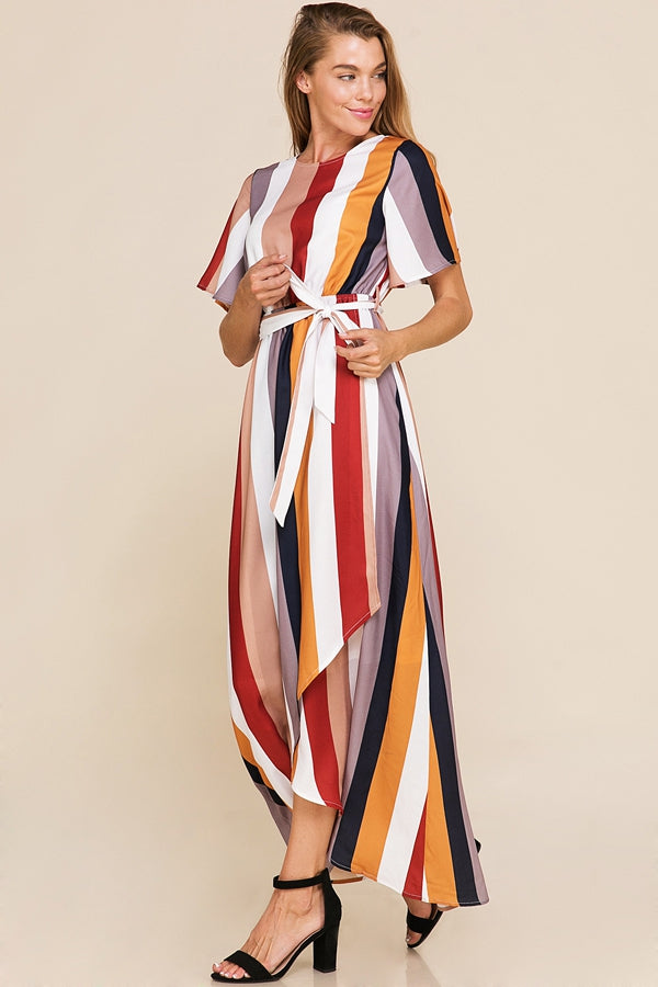 Dallas Asymmetrical Dress High Low Multi Color Siin Bees