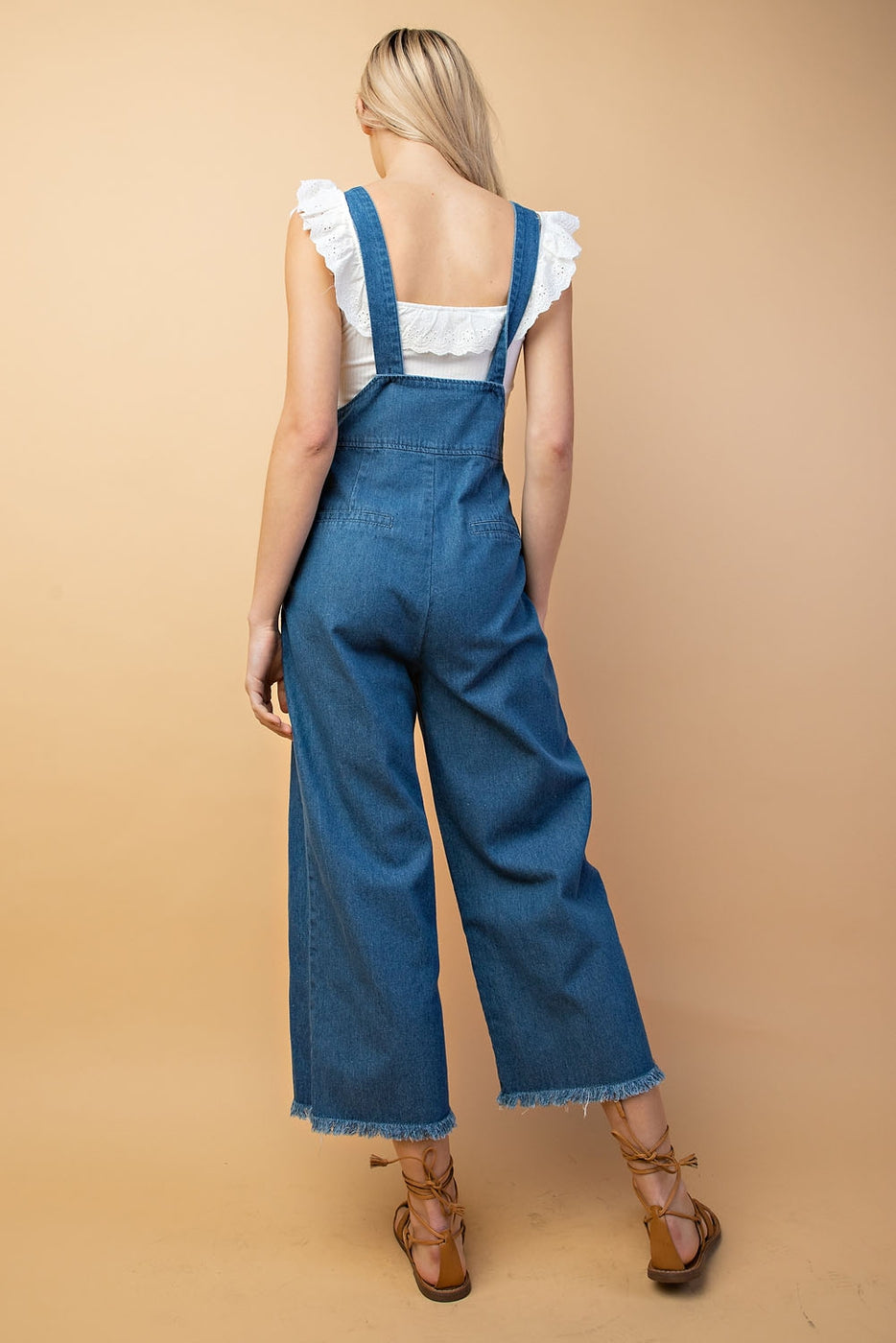 Valerie Jumpsuit With Denim Adjustable Strap In Denim Blue Siin Bees