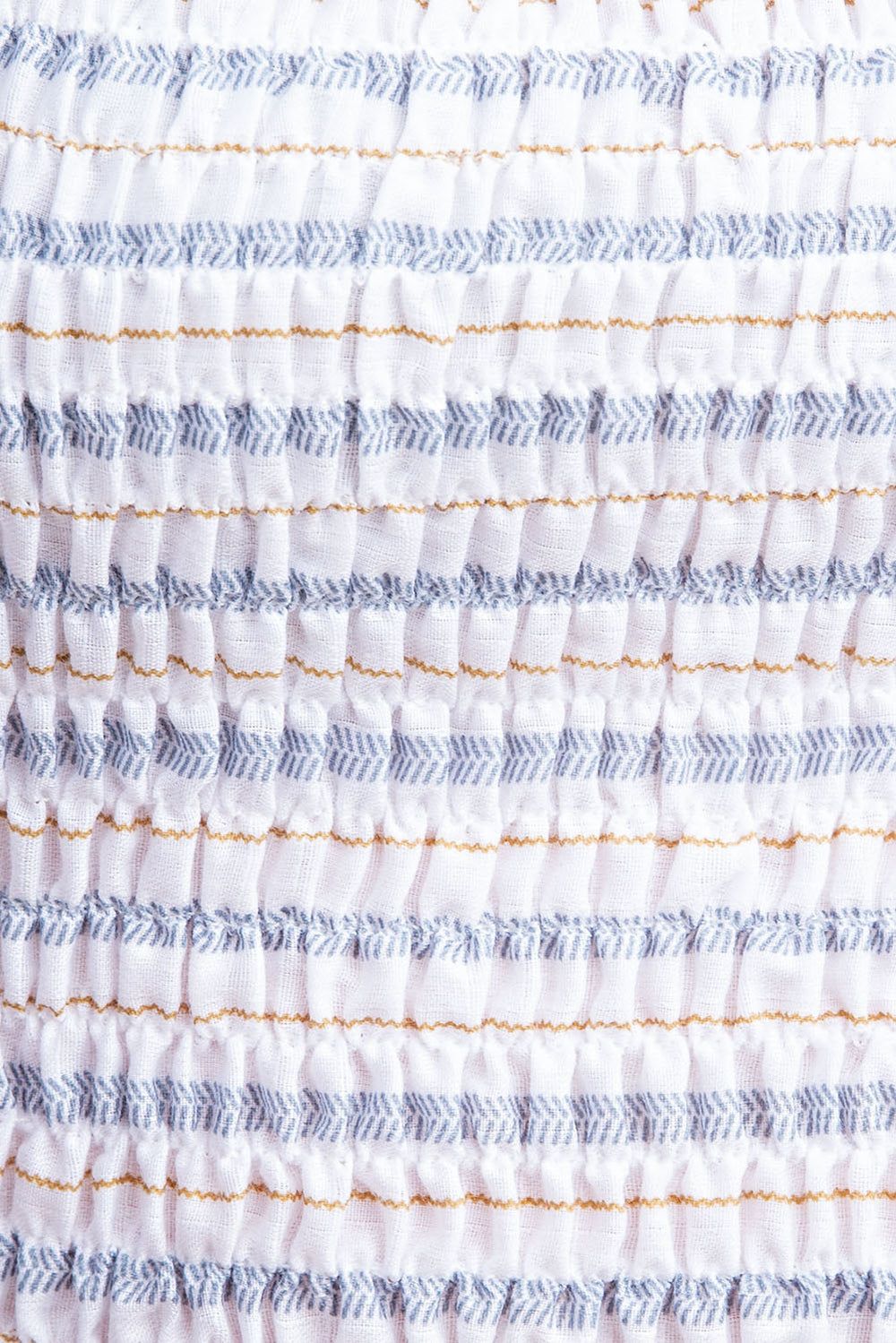 Smocked Stripe Cropped Top - Siin Bees