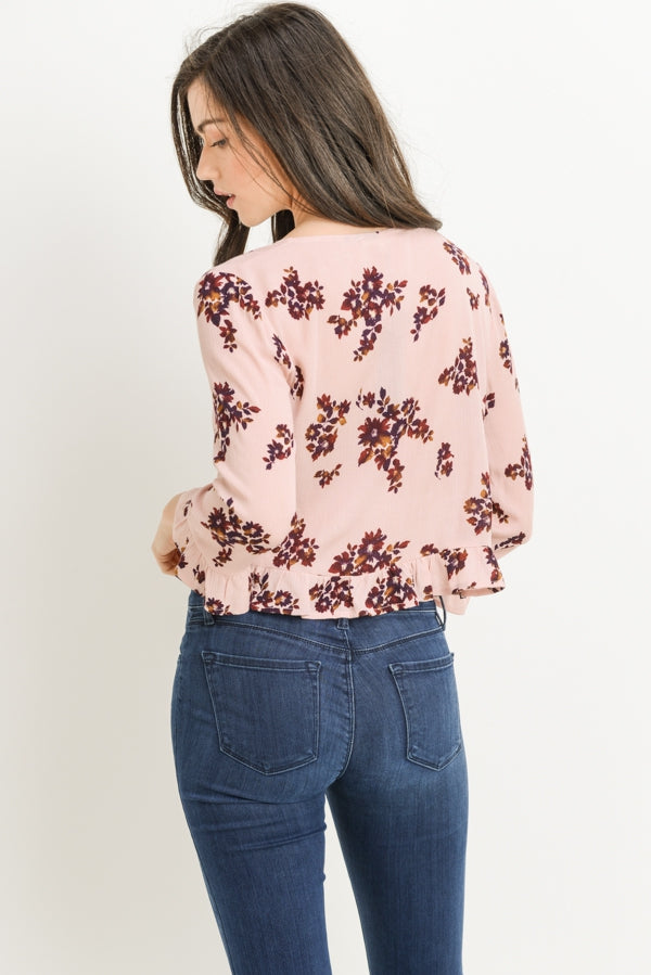 Floral Button Top Siin Bees
