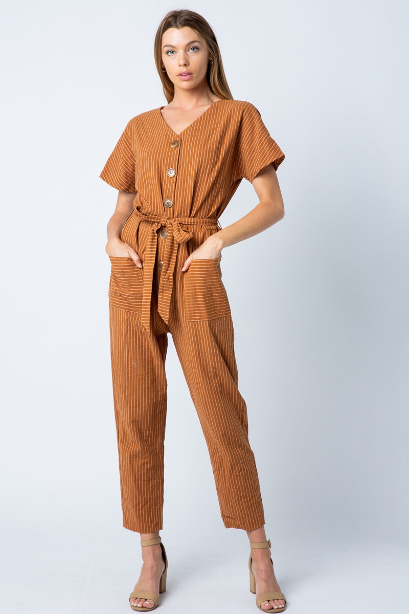 Emily Jumpsuit With Front Button Siin Bees