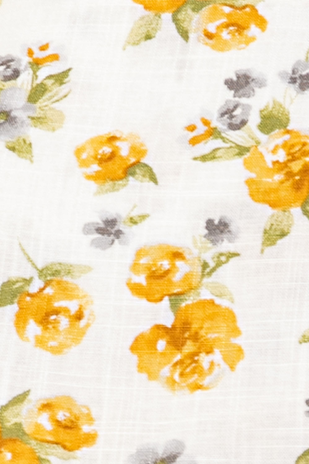 Printed Linen Top In Yellow-Off White Siin Bees