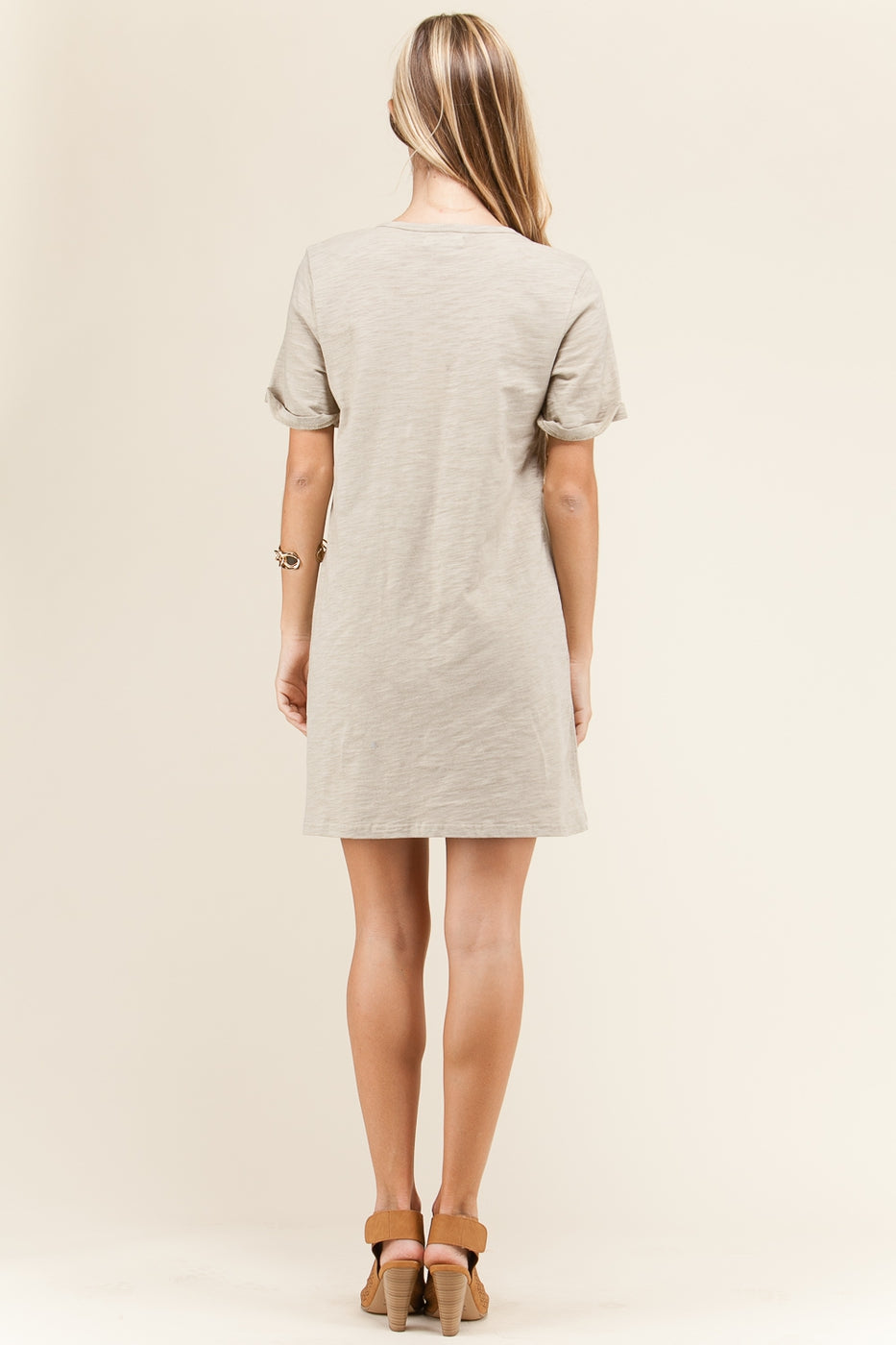 Esther Mini Dress Lace-Up Knit Detail Cotton Siin Bees