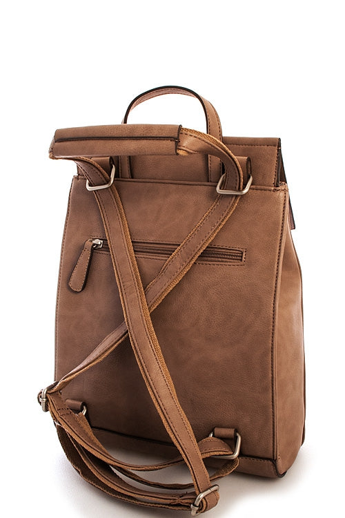 Designer Boho Chic Leather Backpack - Siin Bees