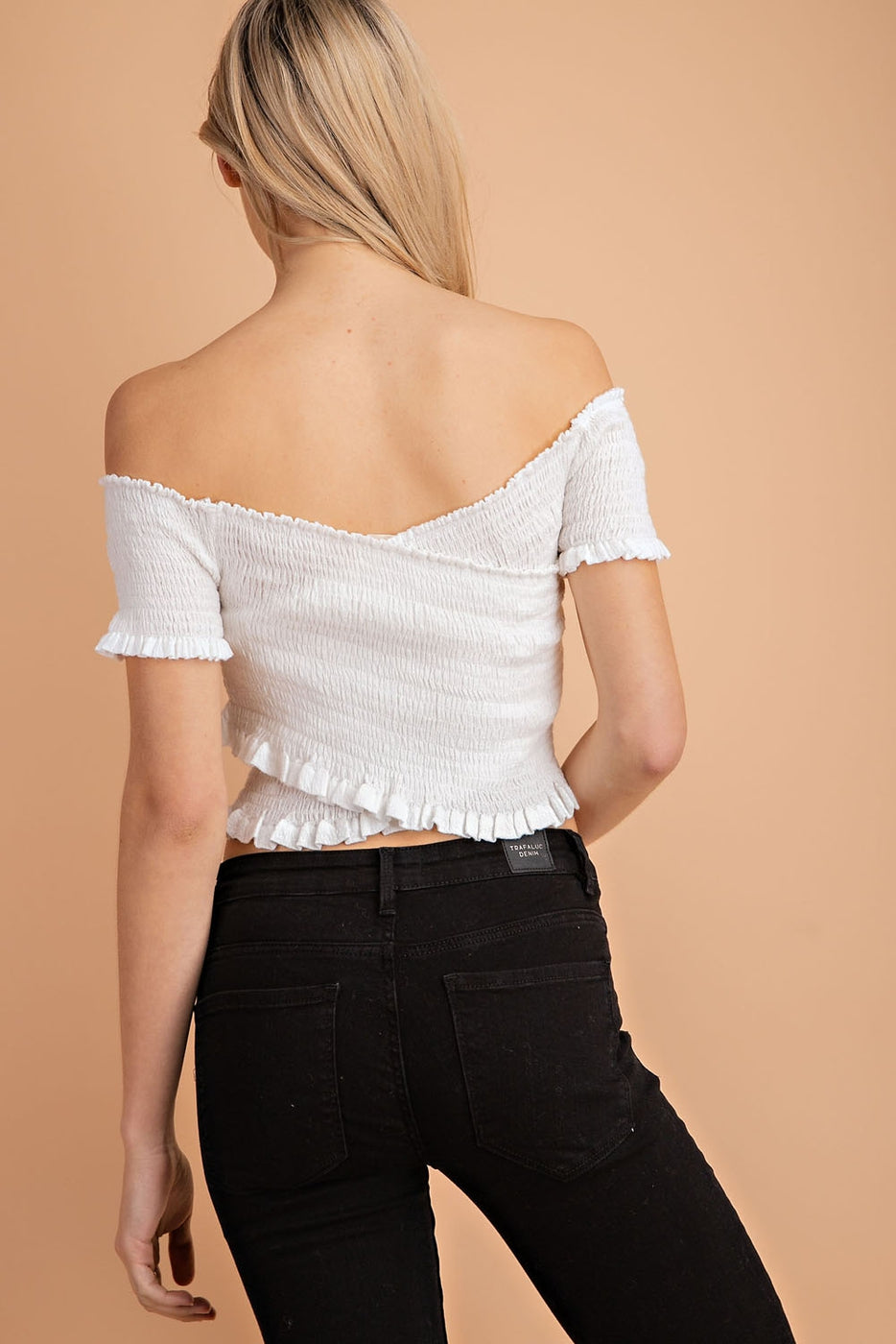 Crepe Overlap Cropped Top Siin Bees