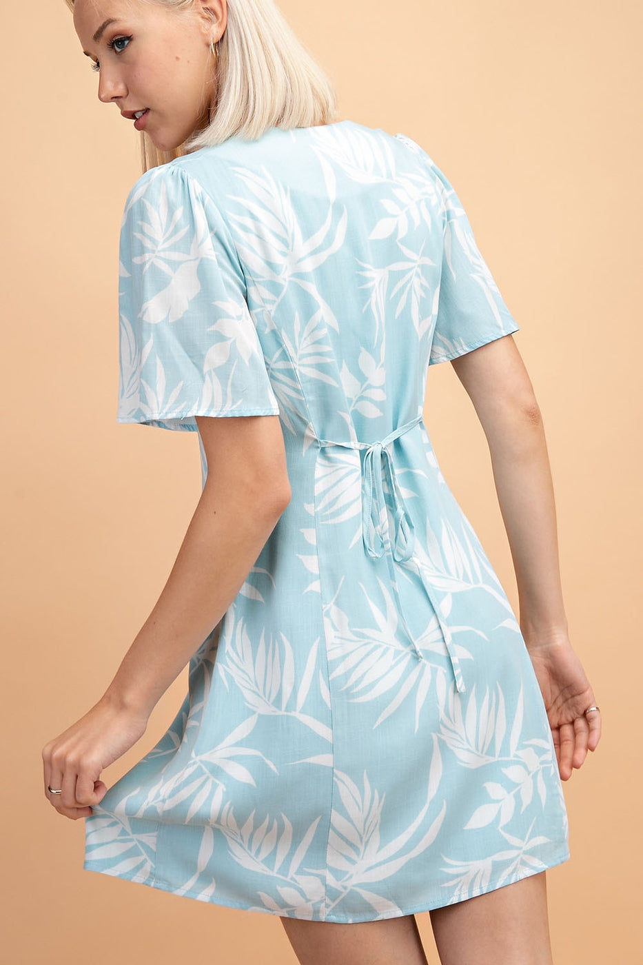 Hawaiian Print Button Down Dress - Siin Bees