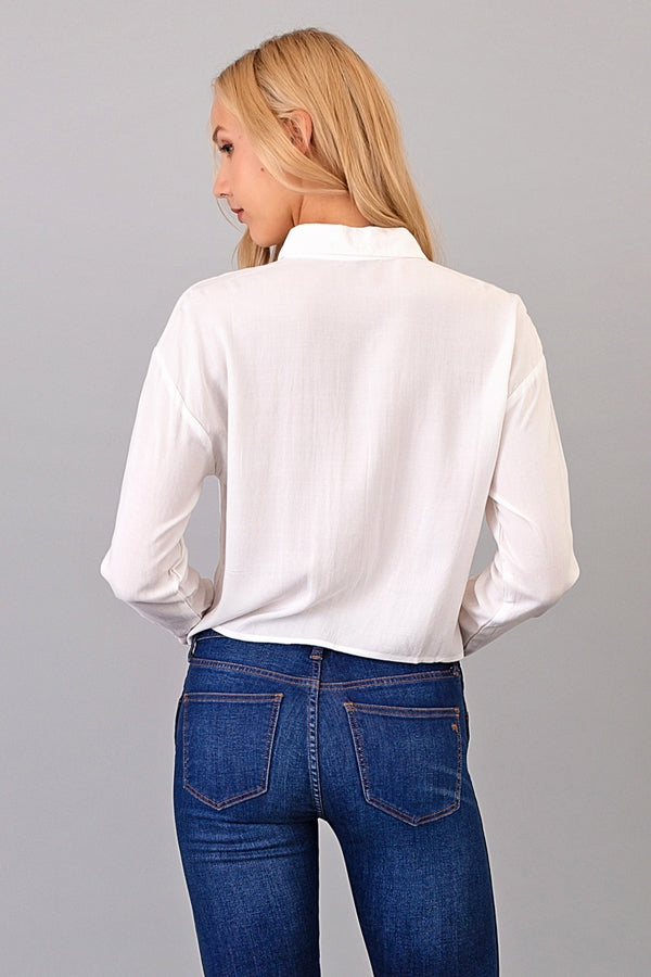 Alice Cropped Button Down Shirt Siin Bees