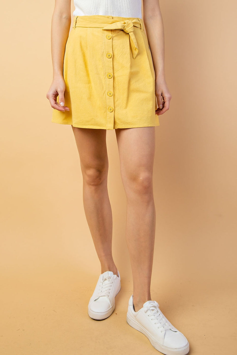 Button Down Paper Skirt - Siin Bees