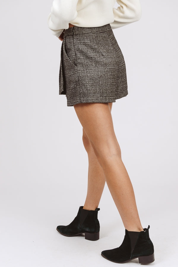 Pleated Plaid Skort Siin Bees