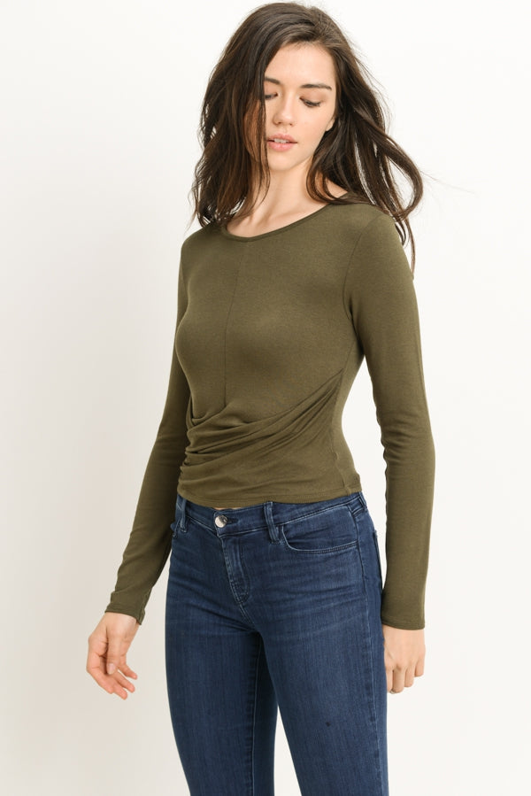 Long Sleeve Crossover Top Siin Bees