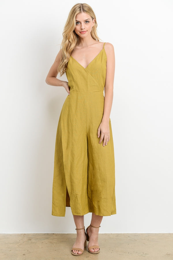 Emily Jumpsuit With Side Slit Cropped Siin Bees