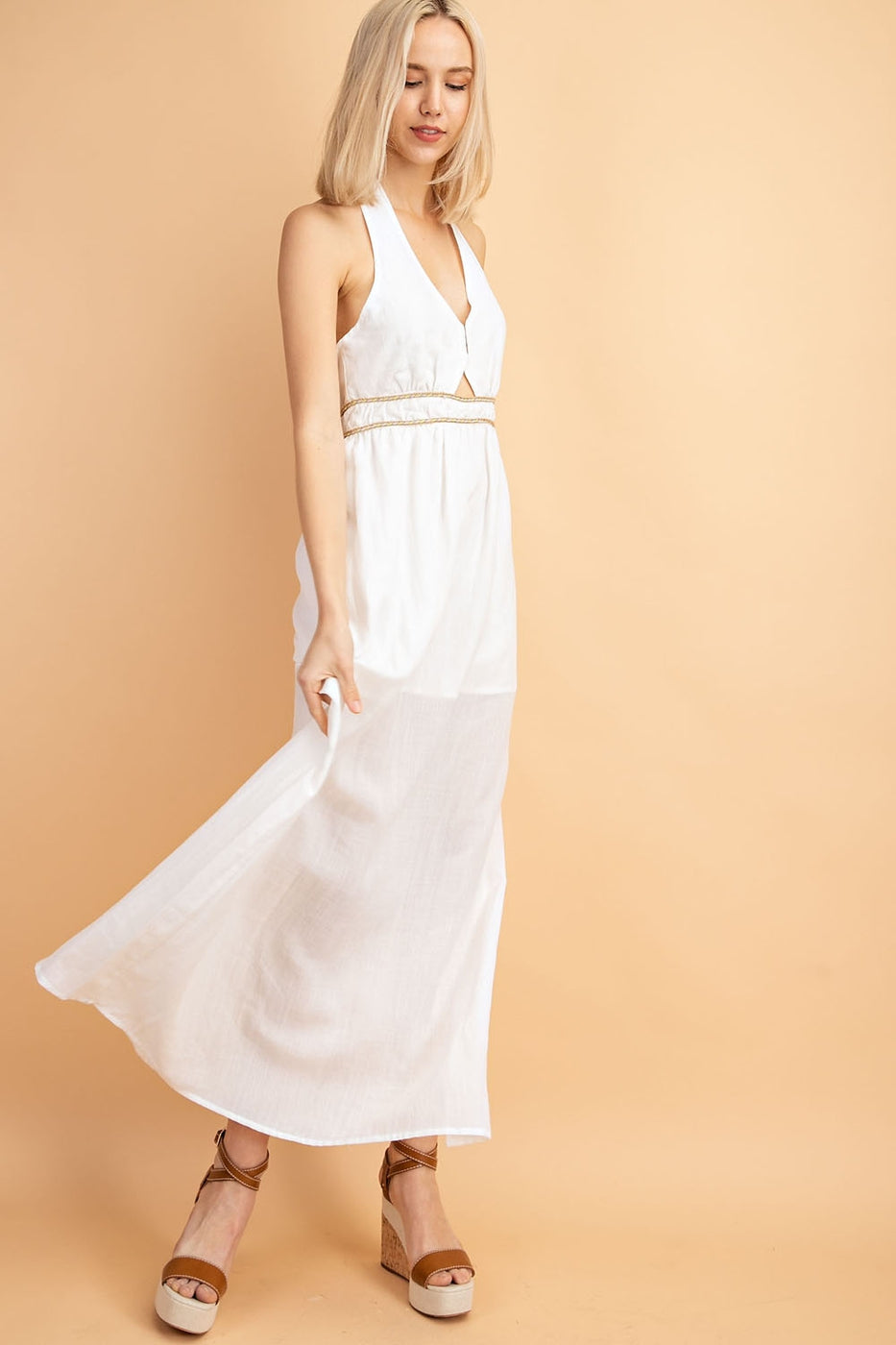 Rope Tie Maxi Dress Siin Bees