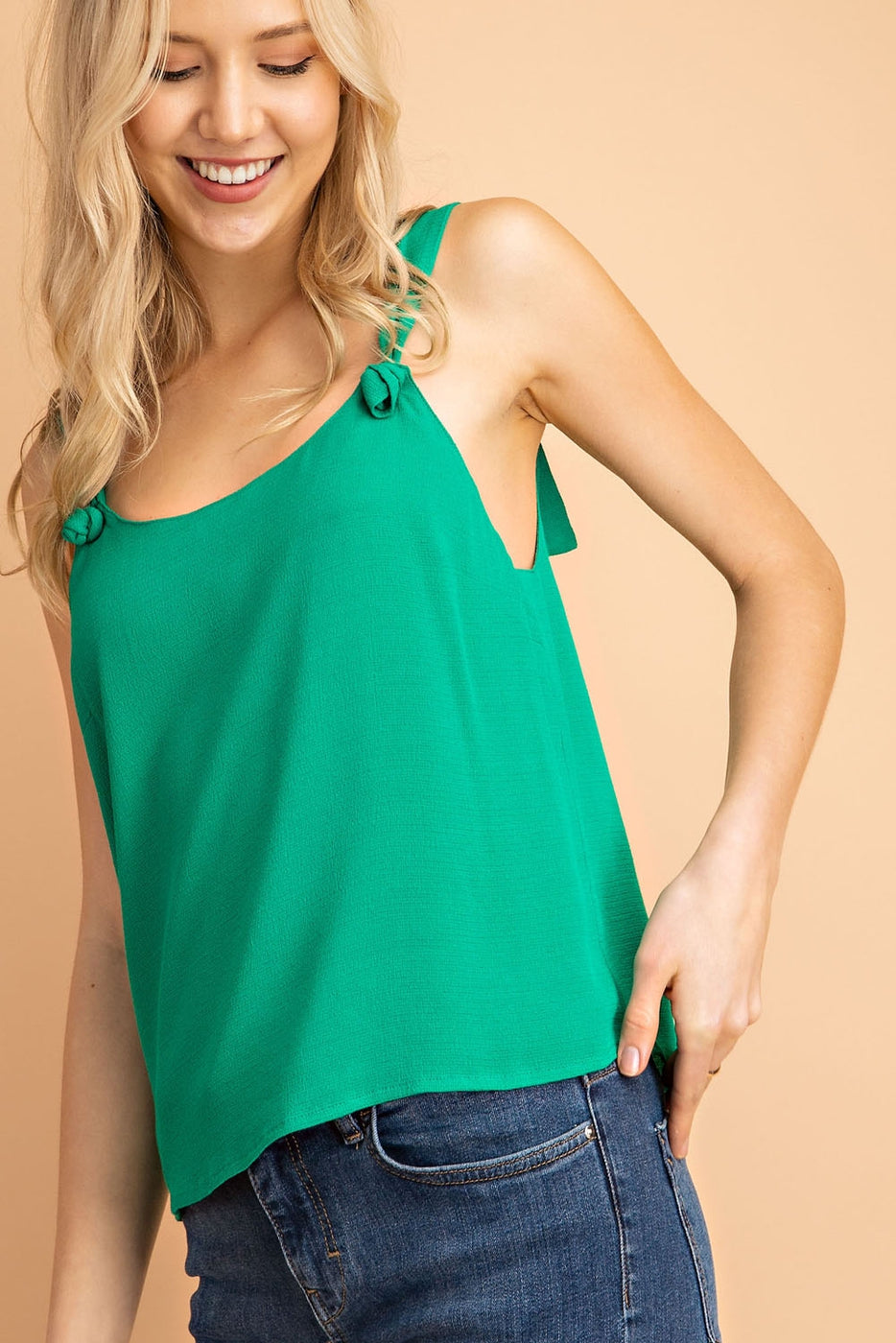Self Tie Straps Sleeveless Top Siin Bees