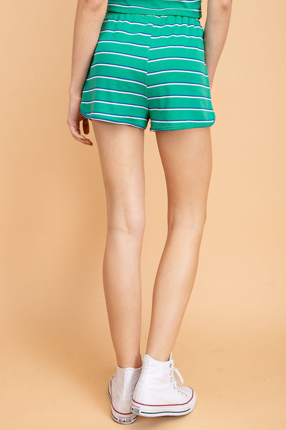 Stripe Shorts with Draw String Siin Bees