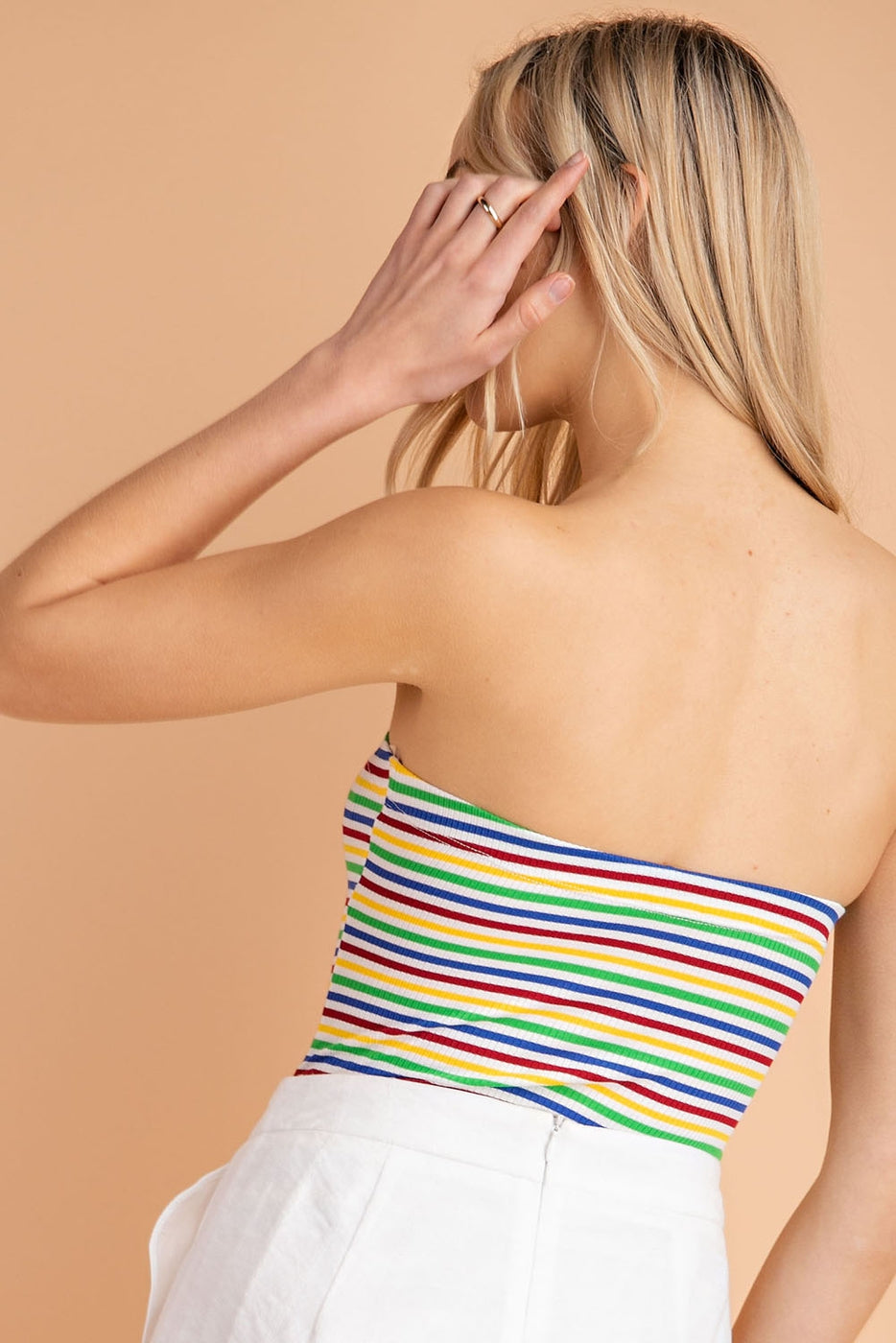 Tube Top Multi Stripe Bodysuit Siin Bees