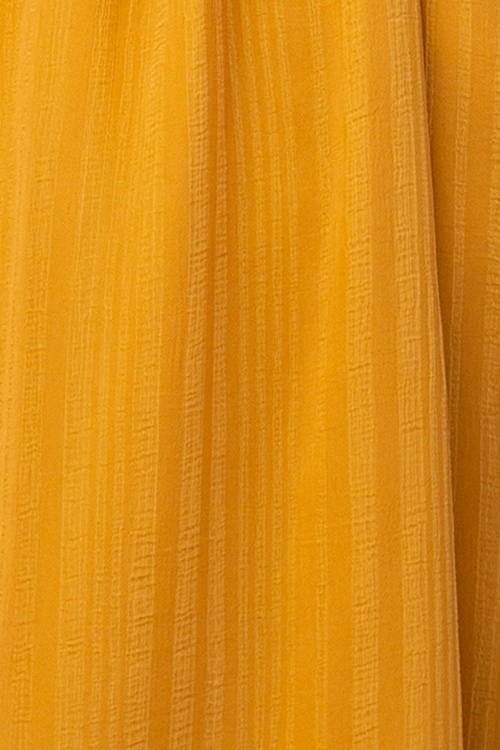 Alyssa Dress With U-Shape Metal Wire Detail In Mustard Siin Bees