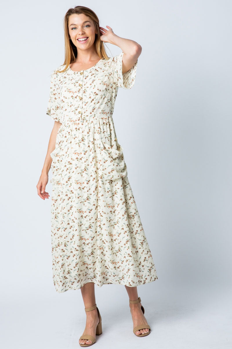 Aria Maxi Dress With Wide Pocket Detail Siin Bees