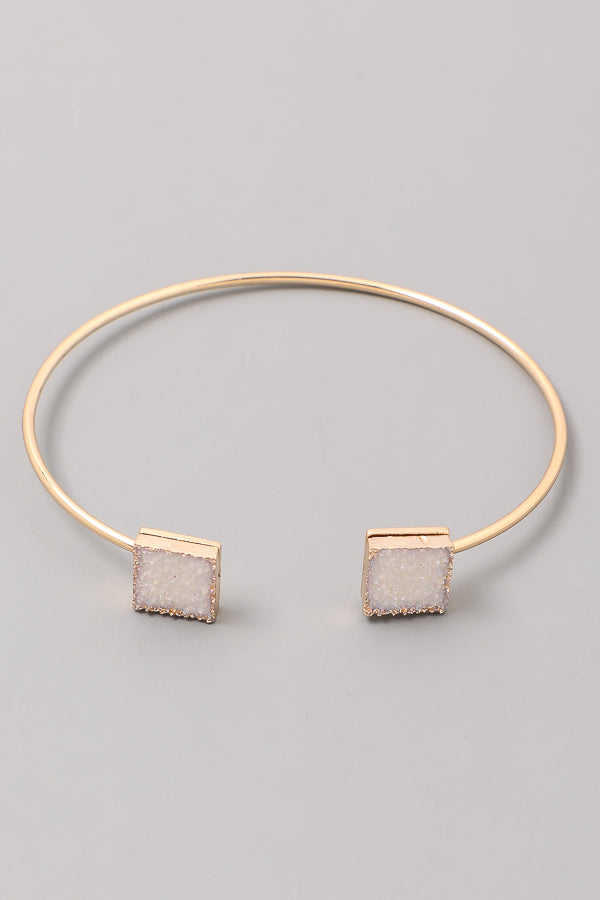 Square Tipped Bangle Bracelet Siin Bees
