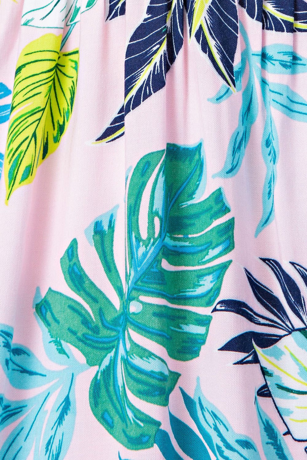 Natalie Midi Dress With Tropical Print Button Down In Pink-Green Siin Bees