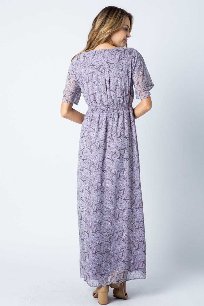 Bella Maxi Dress With Peal Button Detail Siin Bees