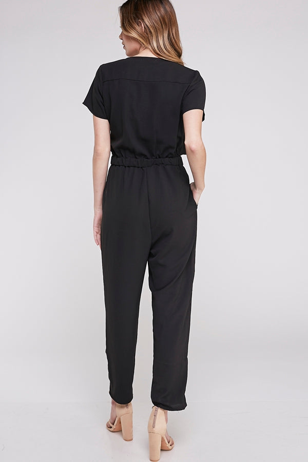 Harmony Jumpsuit Short Sleeve With Side Tie Knot Detail Siin Bees
