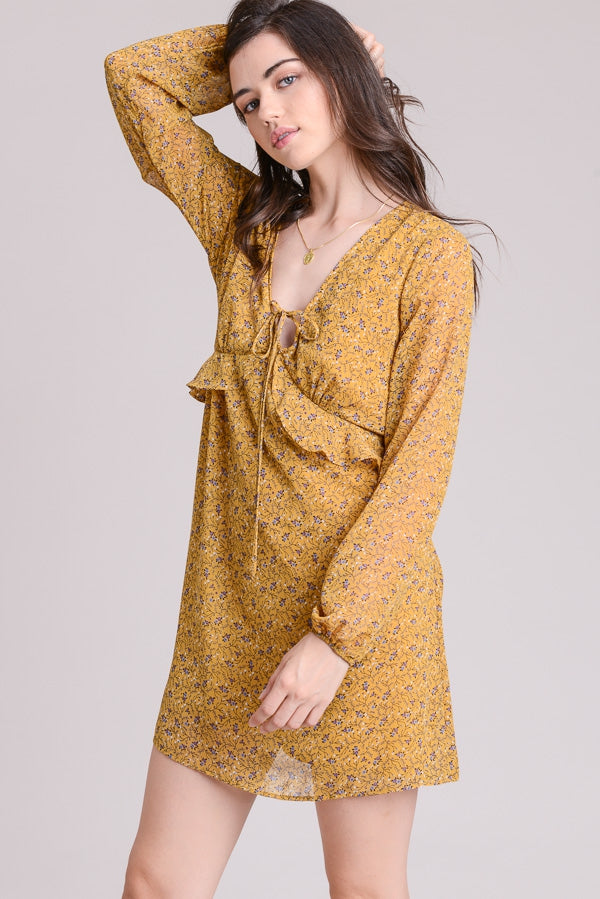 Frilly Boho Floral Dress Siin Bees