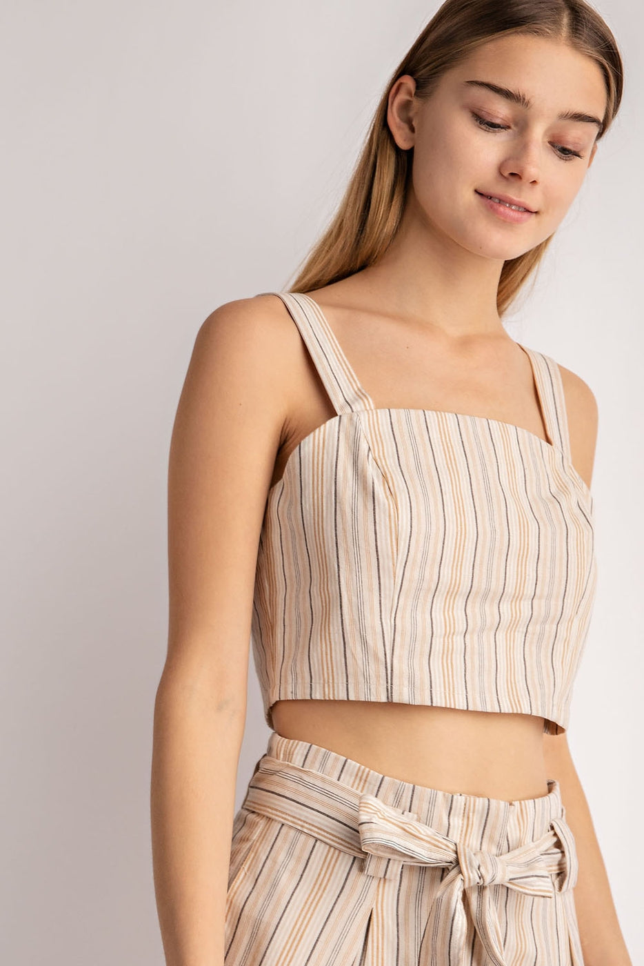 Striped Wide Strap Top Siin Bees