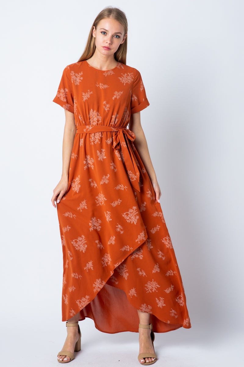Emersyn Maxi Dress With High Low Skirt Detail Siin Bees