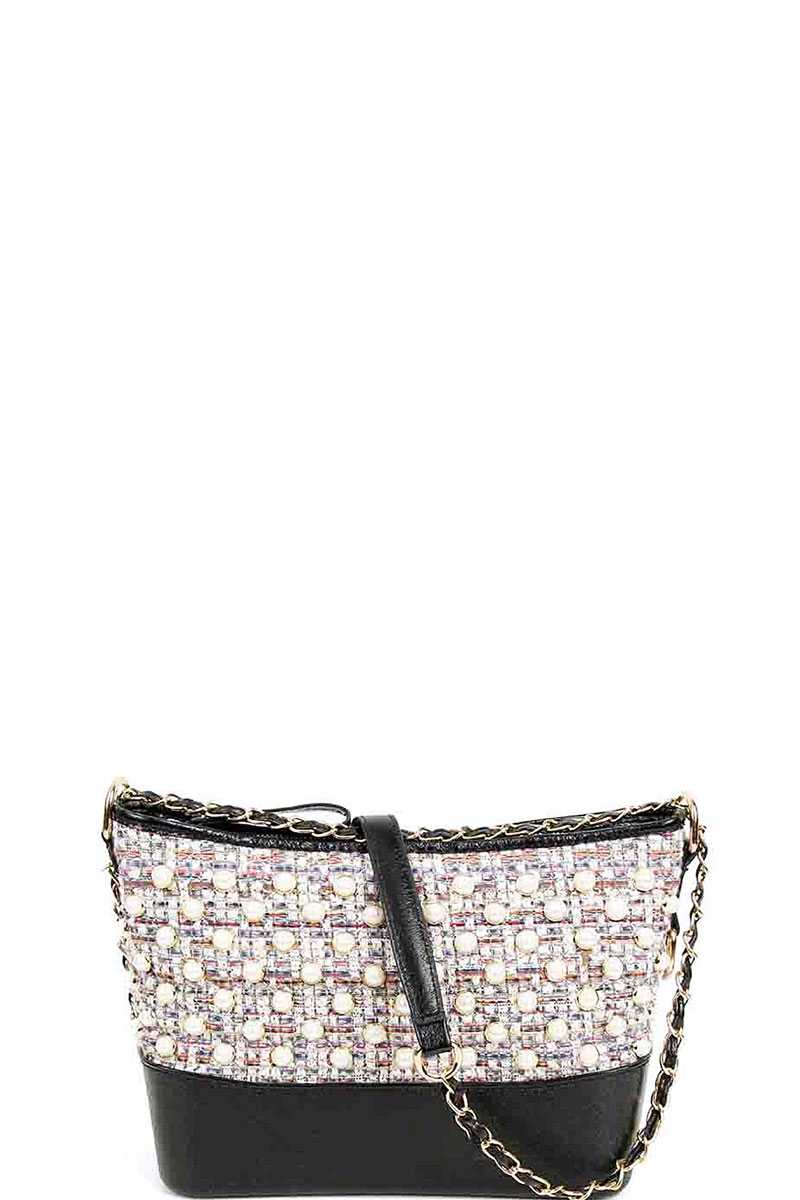Fashion Multi Pearl Modern Crossbody Bag Siin Bees