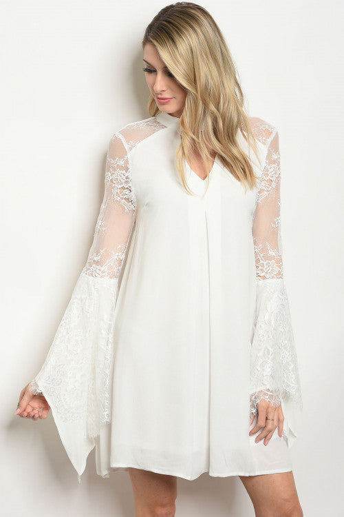 Hope Off White Angelic Classy Dress Siin Bees
