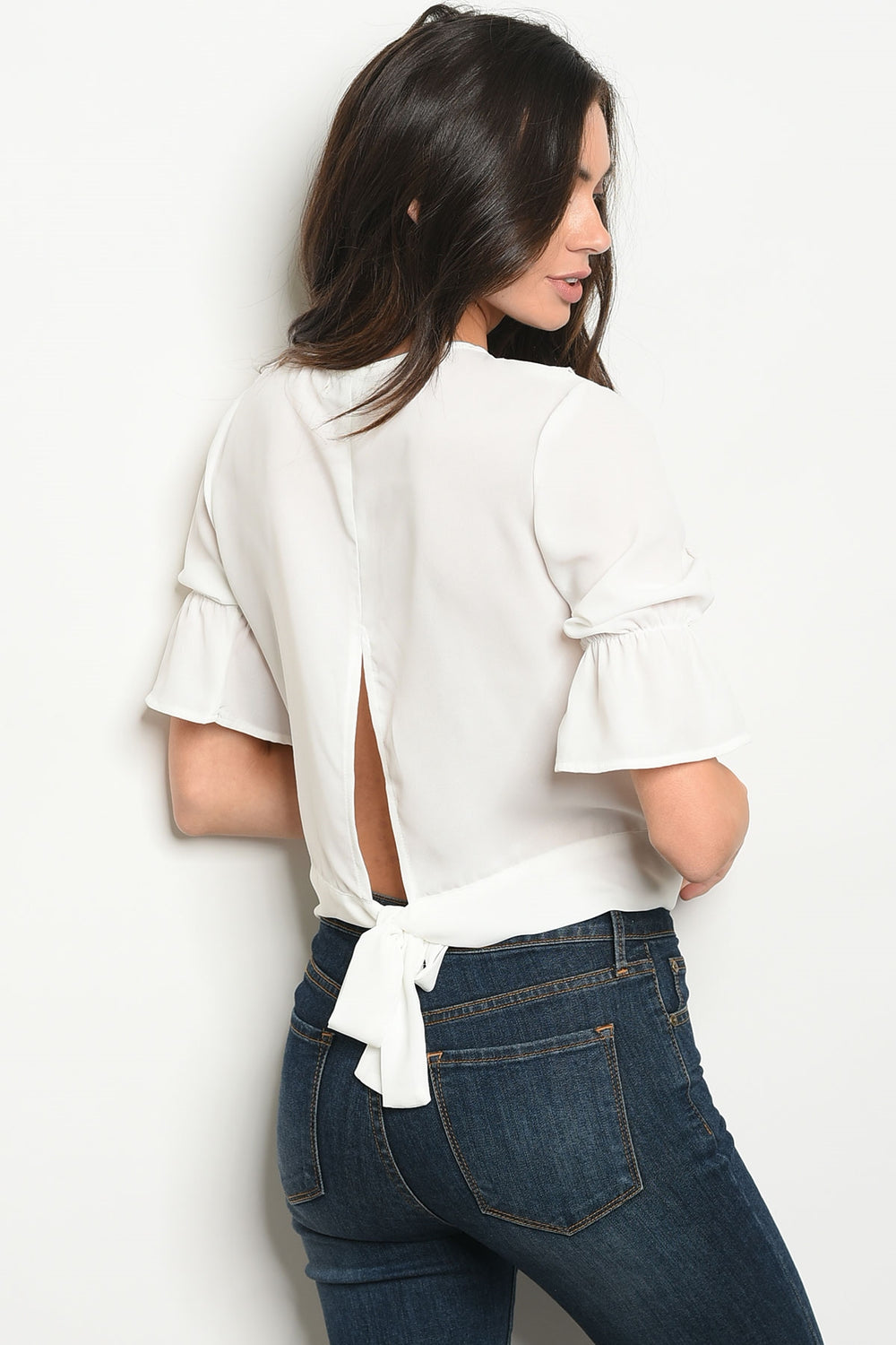 White Romantic Ruffled Blouse Siin Bees