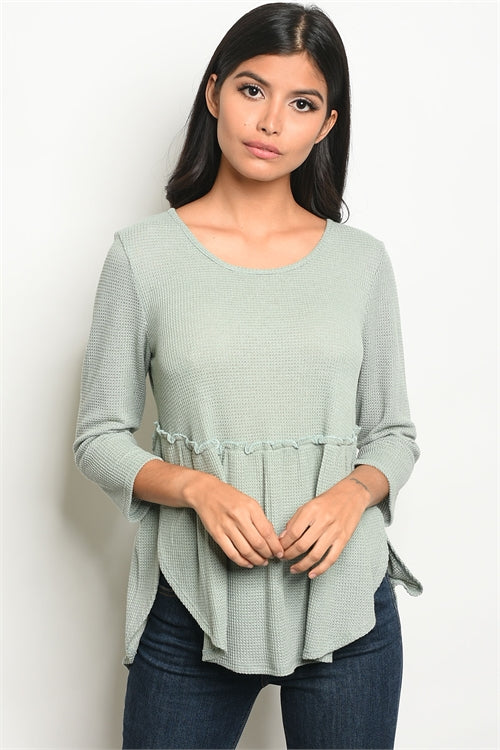 Scoop Neck Tunic Top Siin Bees