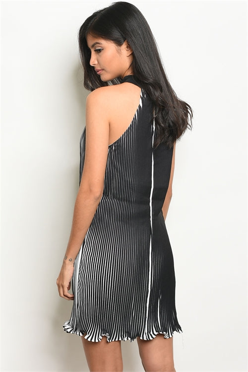 Ruby The Black & White Stripped Dress Siin Bees