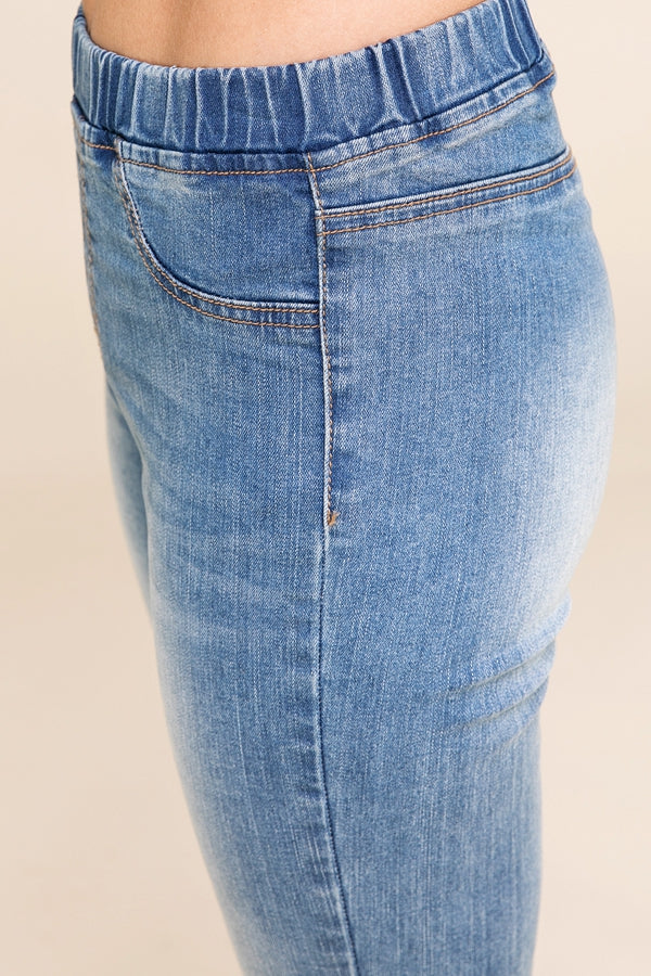 Stylish Pants Jean With Raw Edge Siin Bees