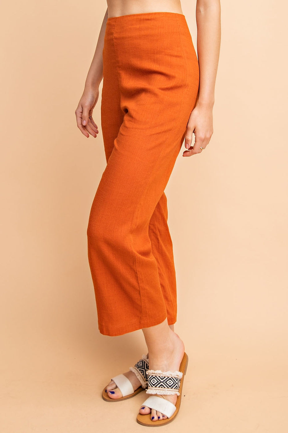 Linen Culotte Pants - Siin Bees
