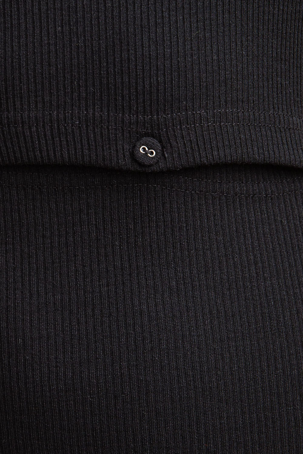 Button Detail Rib Knit Detail Siin Bees