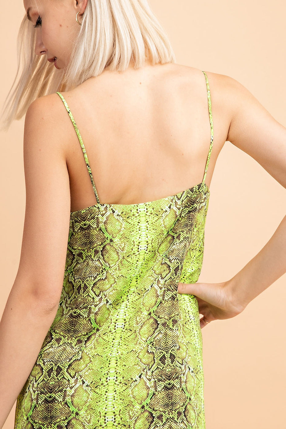 Snake Print Cami Mini Dress Siin Bees